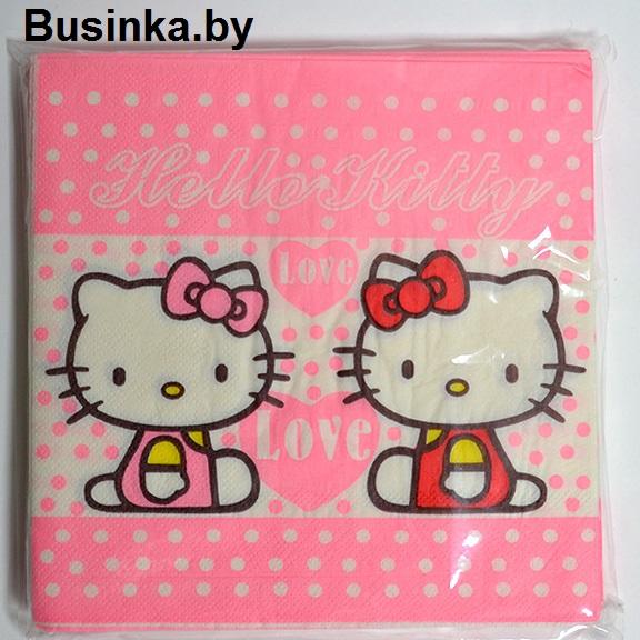 Салфетки бумажные «Hello Kitty» 16х16см (20 шт)