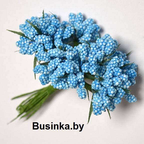 Тычинки декоративные, бирюзовый 1 шт (12 минибукетов)