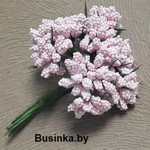 Тычинки декоративные, розовый1 шт (12 минибукетов)