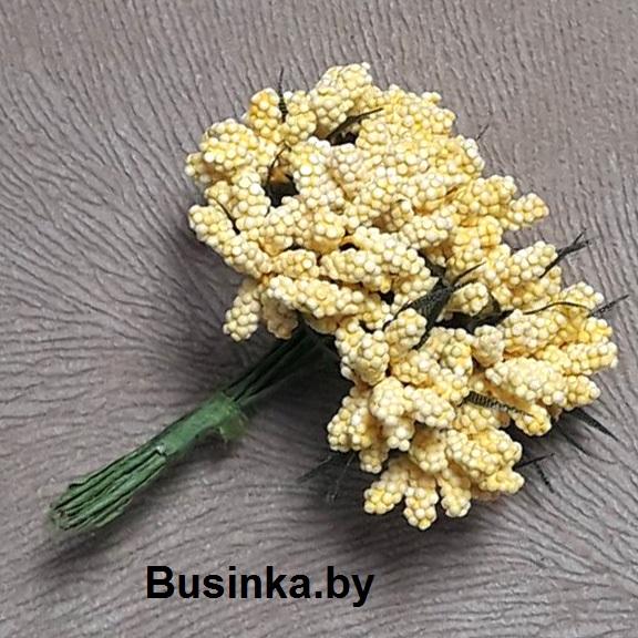 Тычинки декоративные, жёлтый 1 шт (12 минибукетов)