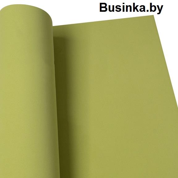 Фоамиран 1 мм 29*34 см оливковый (1 шт), Иранский