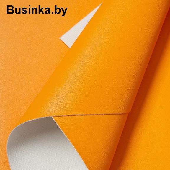 Кожзам 22*30 см, ярко-оранжевый (1 шт)