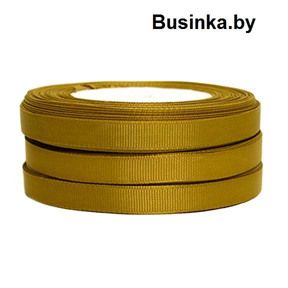 Лента репсовая 1 см, хаки №2 (бобина)