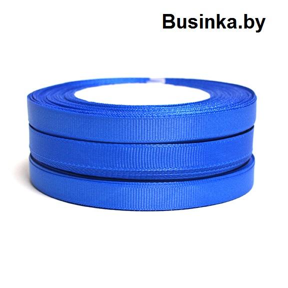 Лента репсовая 1 см, тёмно-голубой №3 (бобина)