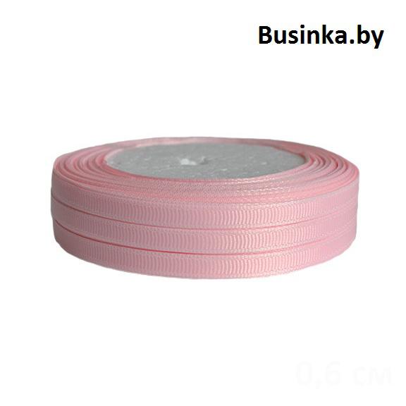 Лента репсовая 1 см, розовый (бобина)