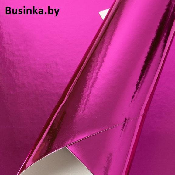 Кожзам зеркальный 20*30 см, фукси (1 шт)