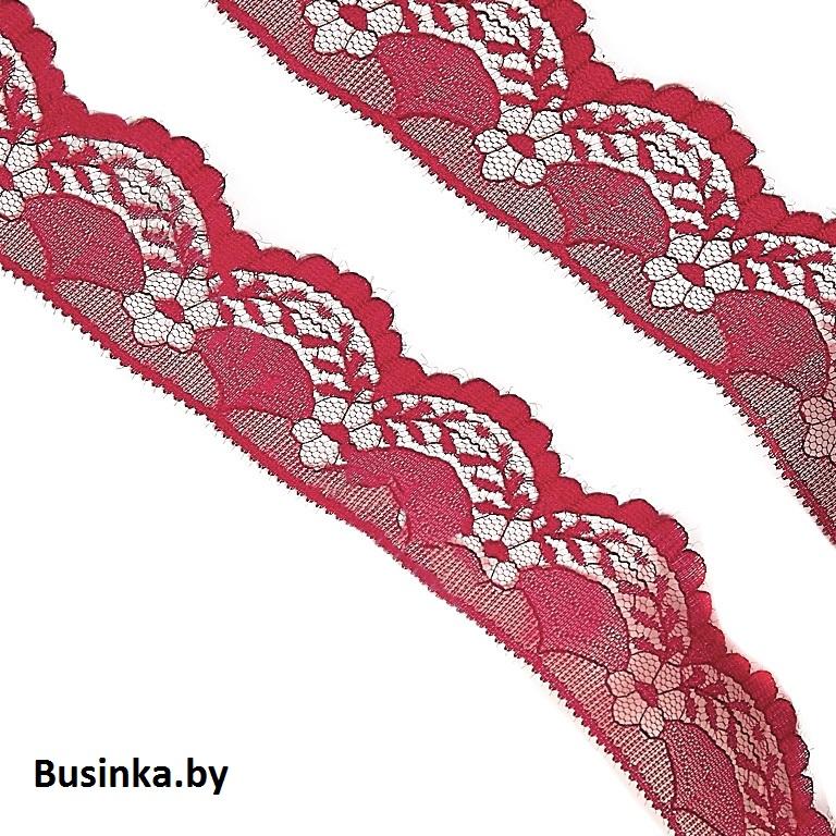 Кружево 4 см (1 метр), бордовый
