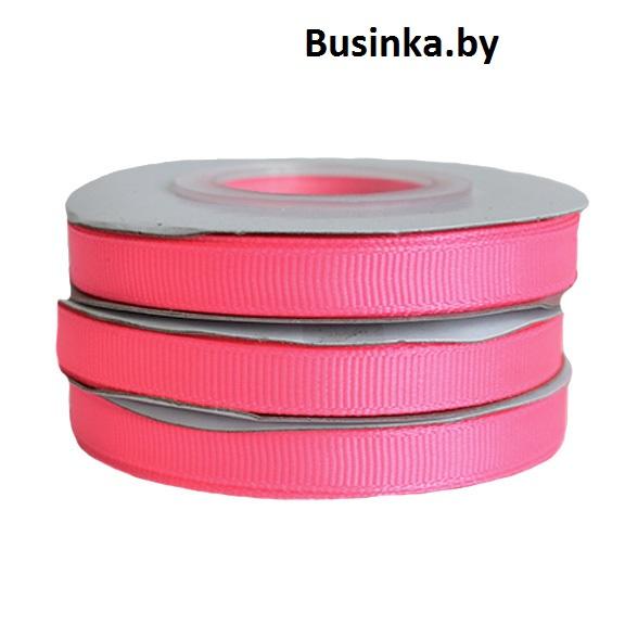 Лента репсовая 1 см, ярко-розовый (бобина)