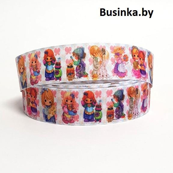 Репсовая лента «Куколки» 2,5 см (1м)