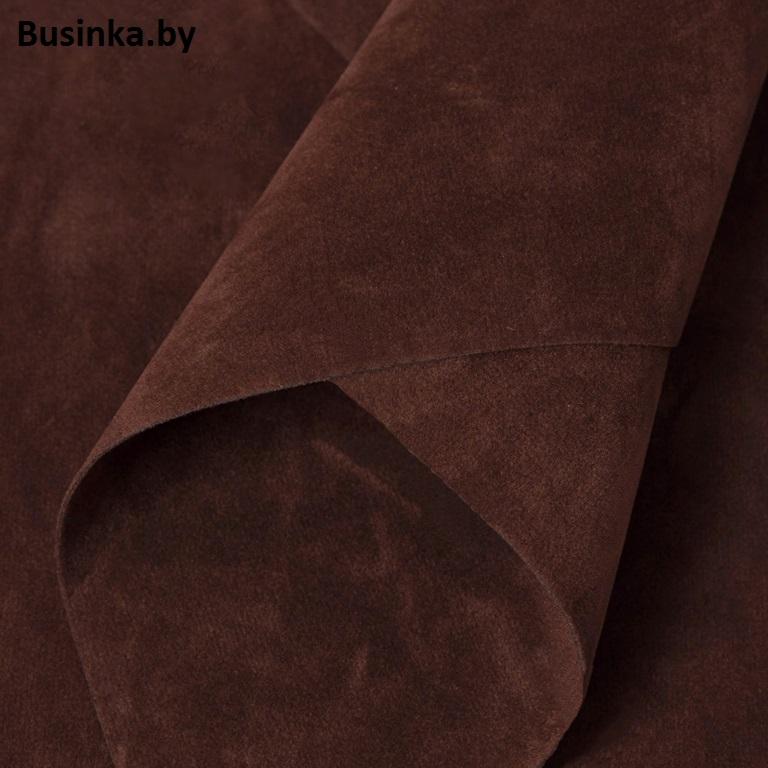 Замша искусственная двусторонняя, А4 (21*29 см) 1 шт, тёмно-коричневый