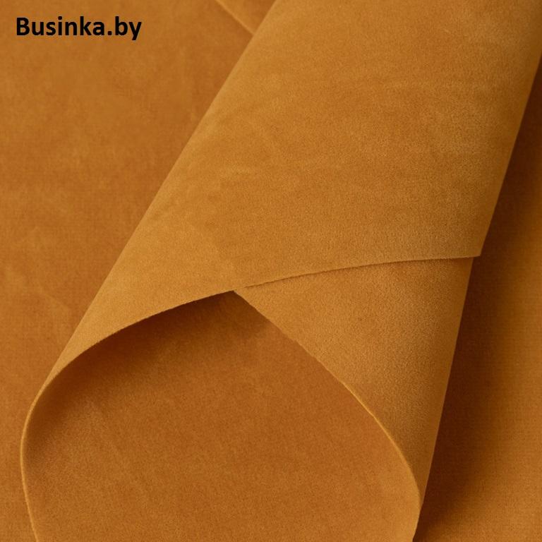 Замша искусственная двусторонняя, А4 (21*29 см) 1 шт, коричневый