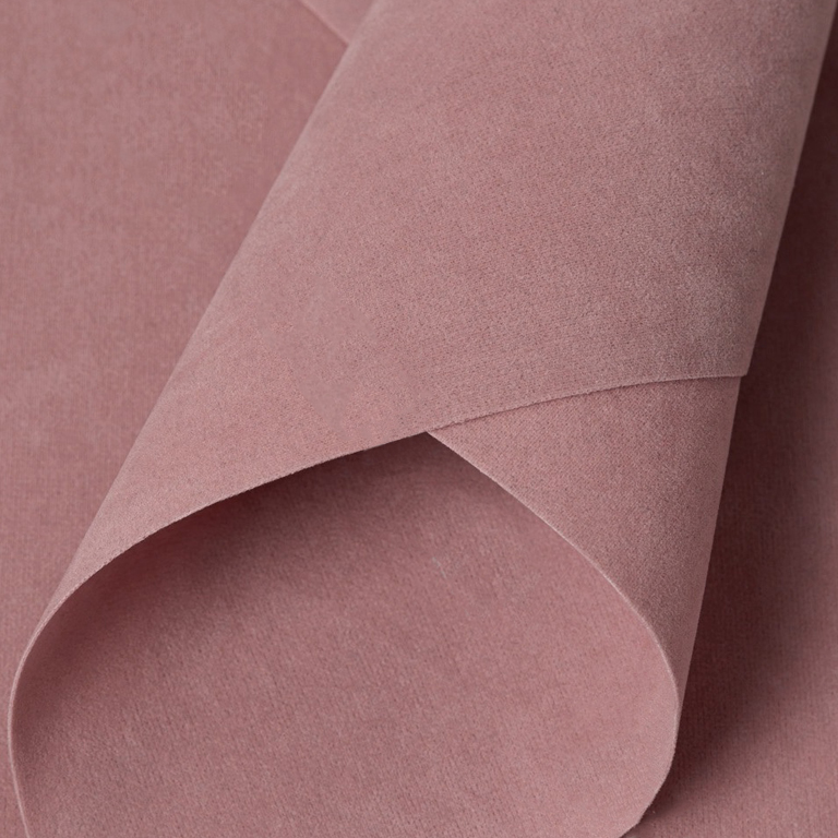 Замша искусственная двусторонняя, А4 (21*29 см) 1 шт, дымчато-розовый