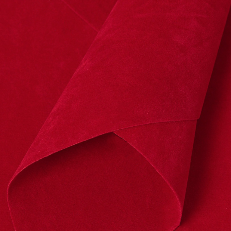 Замша искусственная двусторонняя, А4 (21*29 см) 1 шт, красный