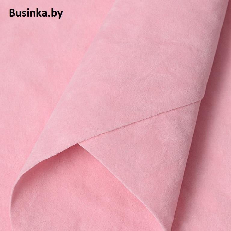 Замша искусственная двусторонняя, А4 (21*29 см) 1 шт, нежно-розовый