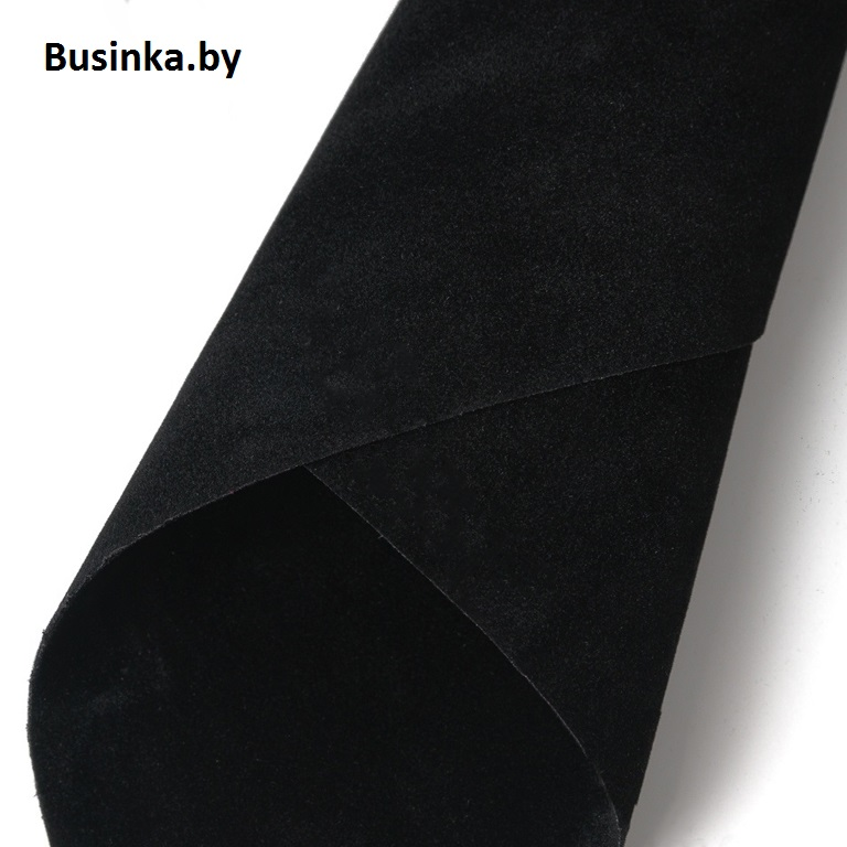 Замша искусственная двусторонняя, А4 (21*29 см) 1 шт, чёрный