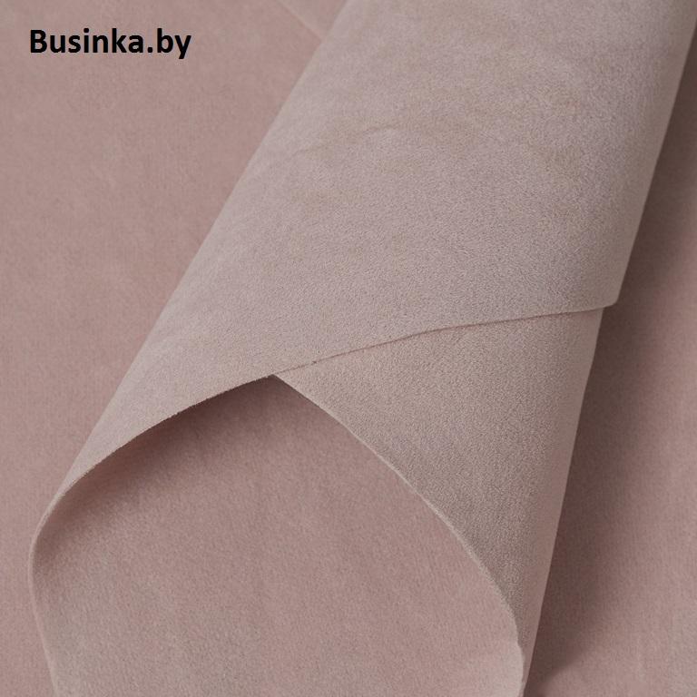 Замша искусственная двусторонняя, А4 (21*29 см) 1 шт, пепельно-розовый
