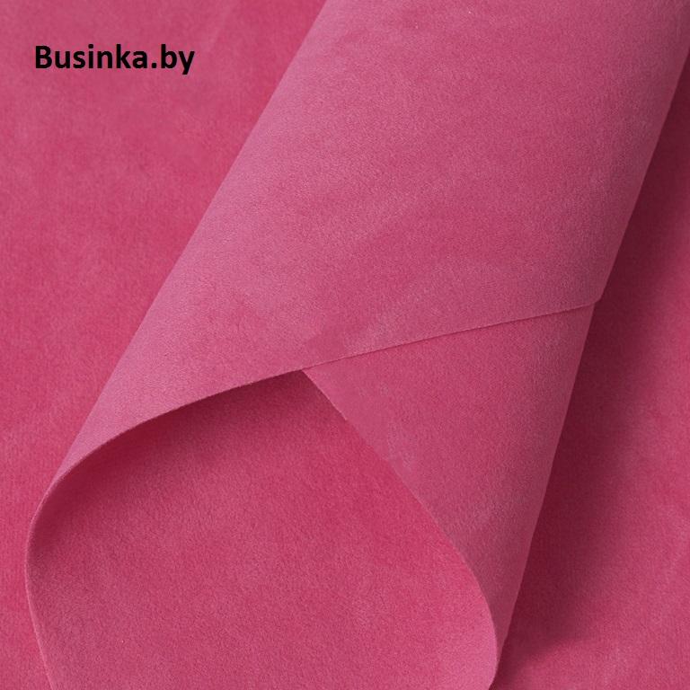 Замша искусственная двусторонняя, А4 (21*29 см) 1 шт, розовый №84