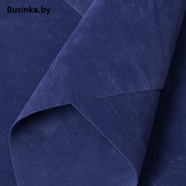 Замша искусственная двусторонняя, А4 (21*29 см) 1 шт, синий