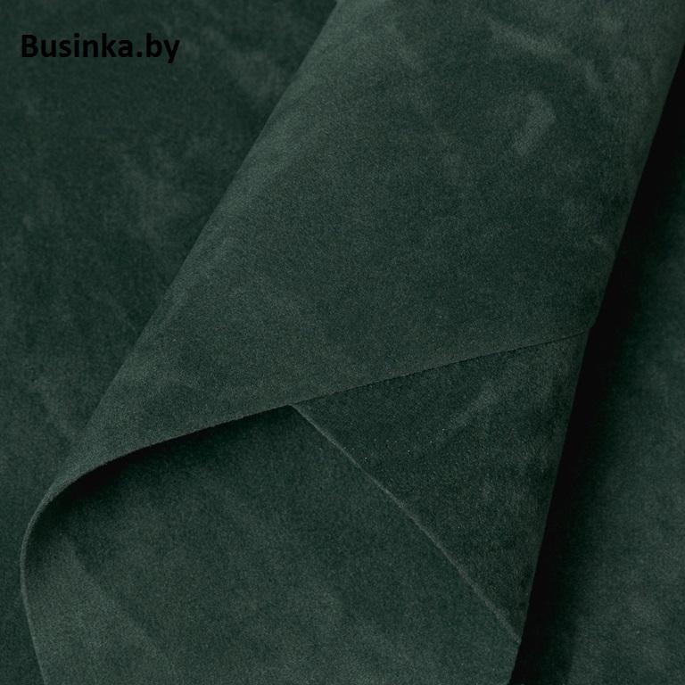 Замша искусственная двусторонняя, А4 (21*29 см) 1 шт, тёмно-зелёный