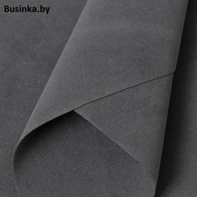 Замша искусственная двусторонняя, А4 (21*29 см) 1 шт, серый