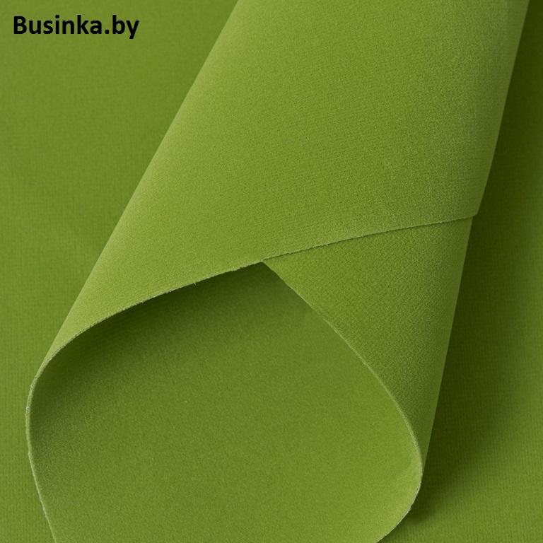 Замша искусственная двусторонняя, А4 (21*29 см) 1 шт, салатовый