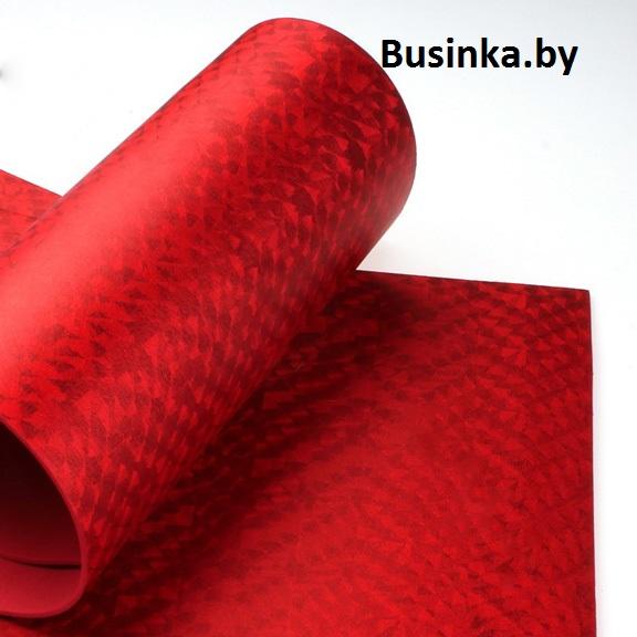 Фоамиран 2 мм 20*30 см голограмма/красный (1 шт)