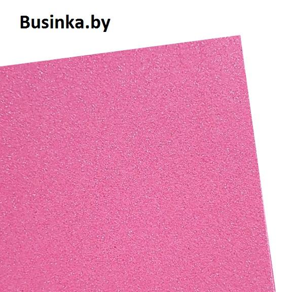 Фоамиран глиттерный 1,7-2 мм Premium 20*29.5 см, розовый перламутр №3 (1 шт)