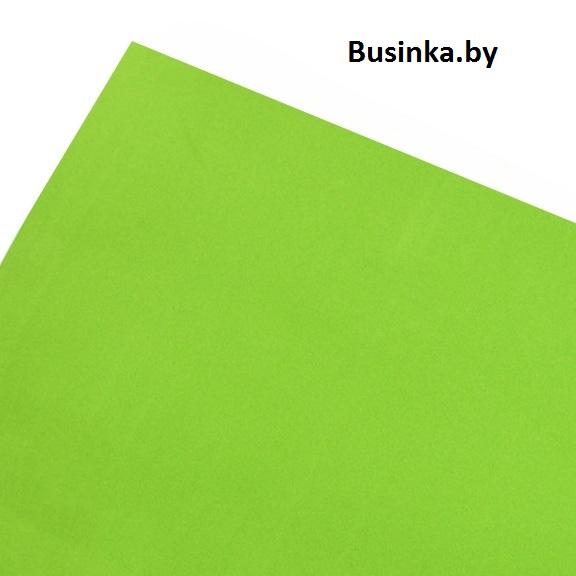 Фоамиран 1 мм 29*34 см, зелёный лайм (1 шт), Иранский