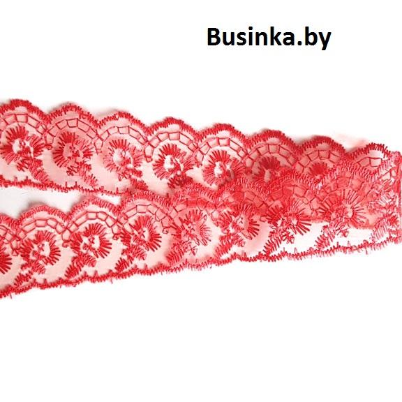 Кружево 4 см (1 метр), красный