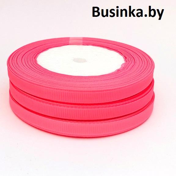 Лента репсовая 0.6 см, ярко-розовый (3 метра)
