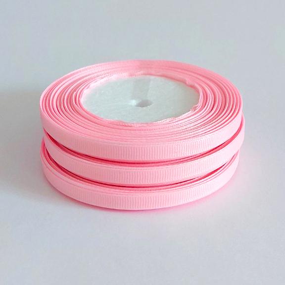 Лента репсовая 0.6 см, розовый №3 (3 метра)