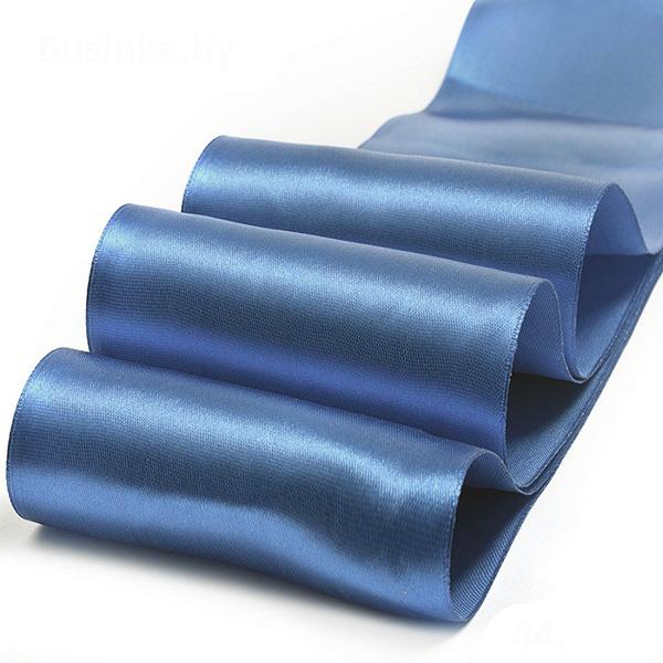 Атласная лента 2.5 см (бабина), синий №1