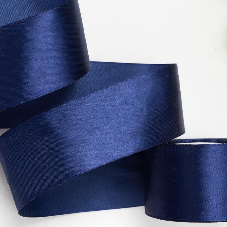Атласная лента 5 см (1 метр), тёмно-синий №1