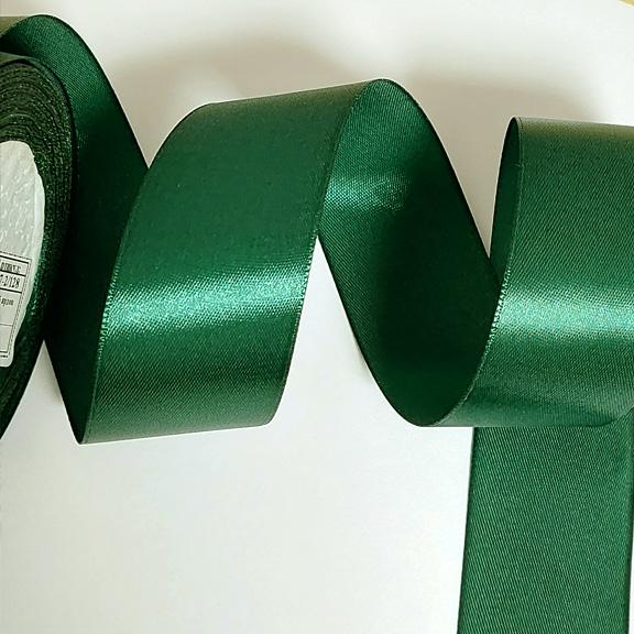 Атласные ленты 4 см (1 метр), зелёная 128