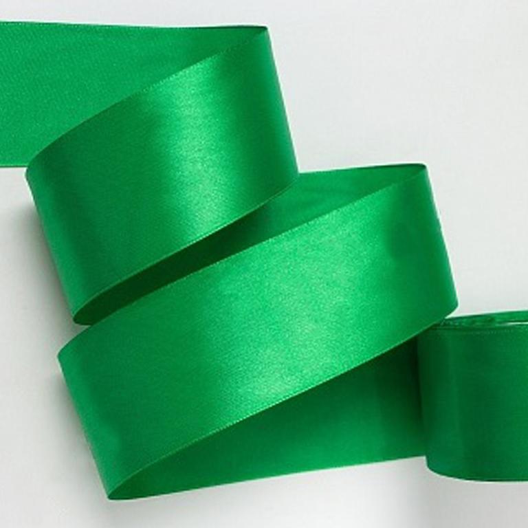 Атласная лента 2.5 см (бабина), зелёный 76