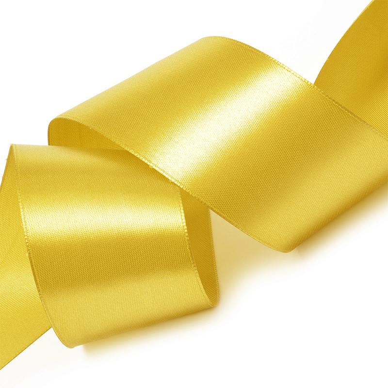 Атласная лента 5 см (1 метр), жёлтый 2