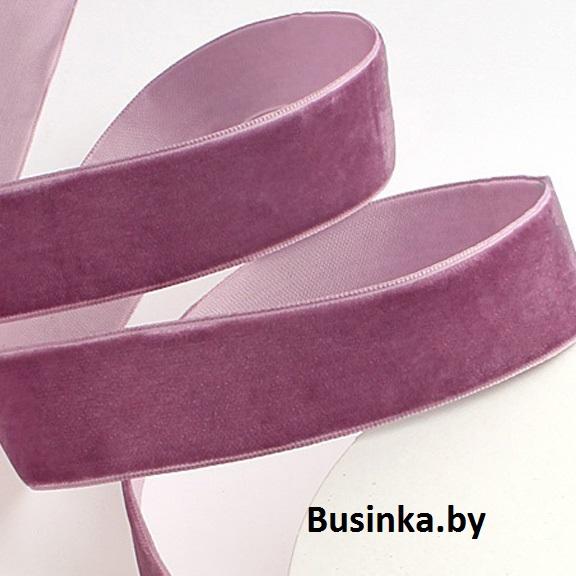 Бархатная лента 2.5 см, пурпурный (1 метр)