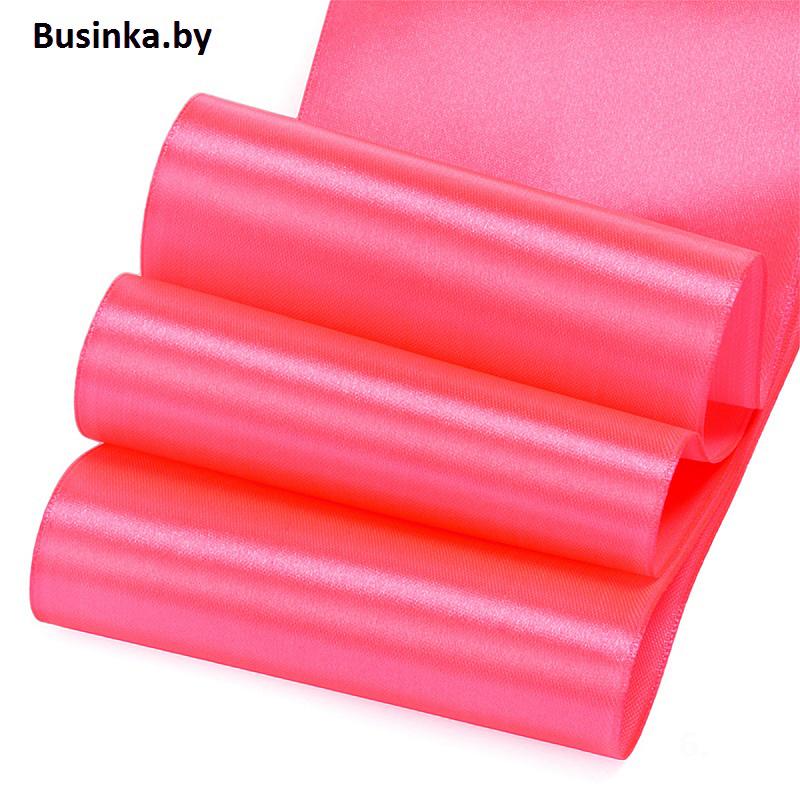 Атласные ленты 4 см (1 метр), ярко-розовый №2