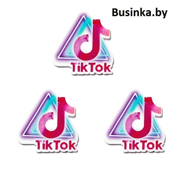Кабошон-вырубка «Tik Tok» 32*35 мм (1 шт)