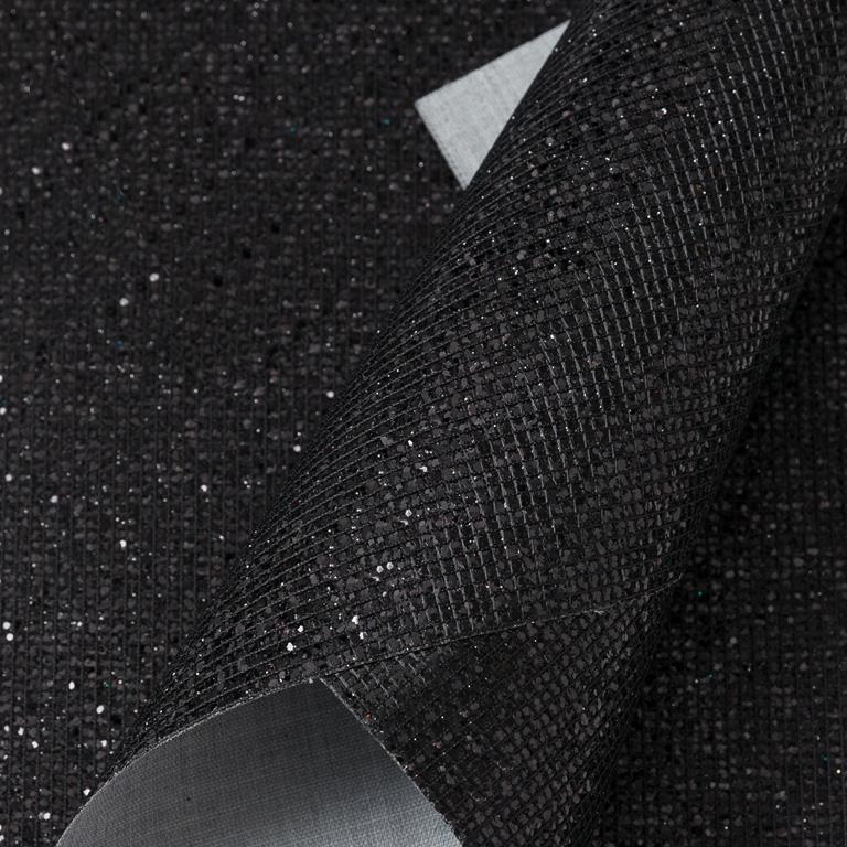 Кожзам «Квадратики» 21*29 см, чёрный (1 шт)