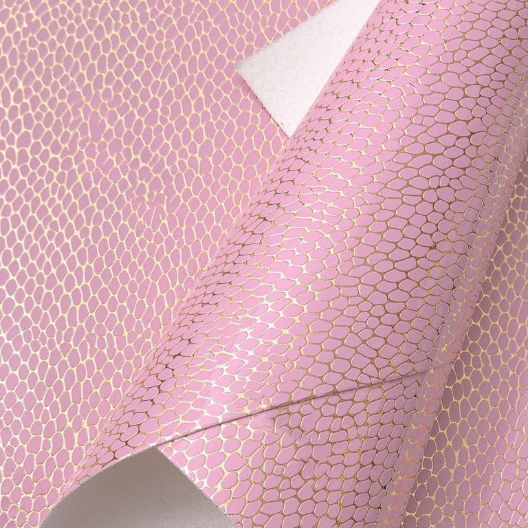 Кожзам «Принт» 21*29 см, розовый