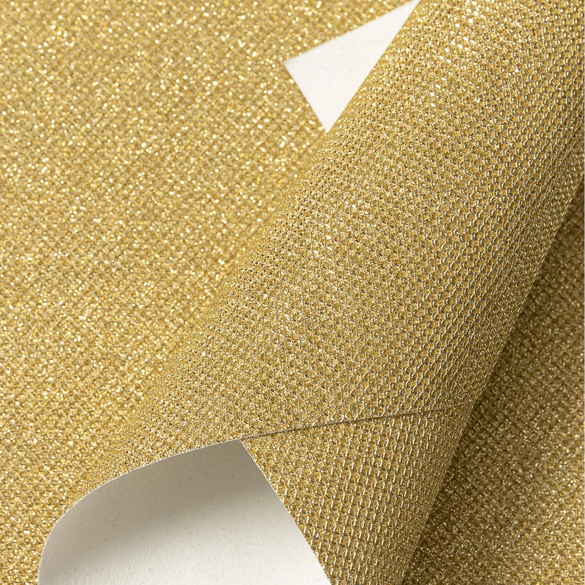 Кожзам с блёстками текстурный 21*29 см, золото