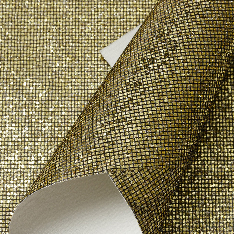 Кожзам «Квадратики» 21*29 см, тёмное золото (1 шт)