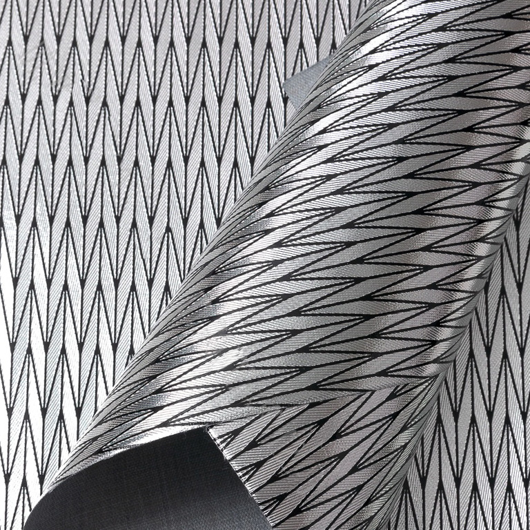 Кожзам текстурный «Узор» 21*29 см, серебро