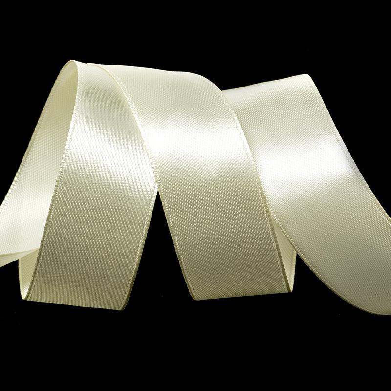 Атласная лента 2.5 см (бабина), кремовый