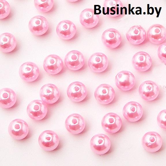Бусины перламутр 10 мм (20 шт), розовый