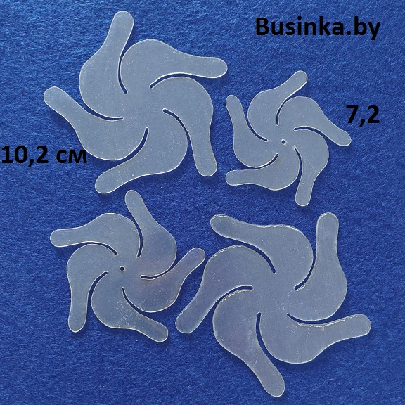 Набор шаблонов для бантиков «Цветок вертушка»