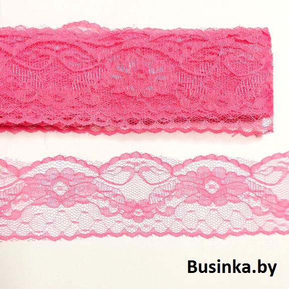 Кружево-капрон 6 см (1 метр), розовый