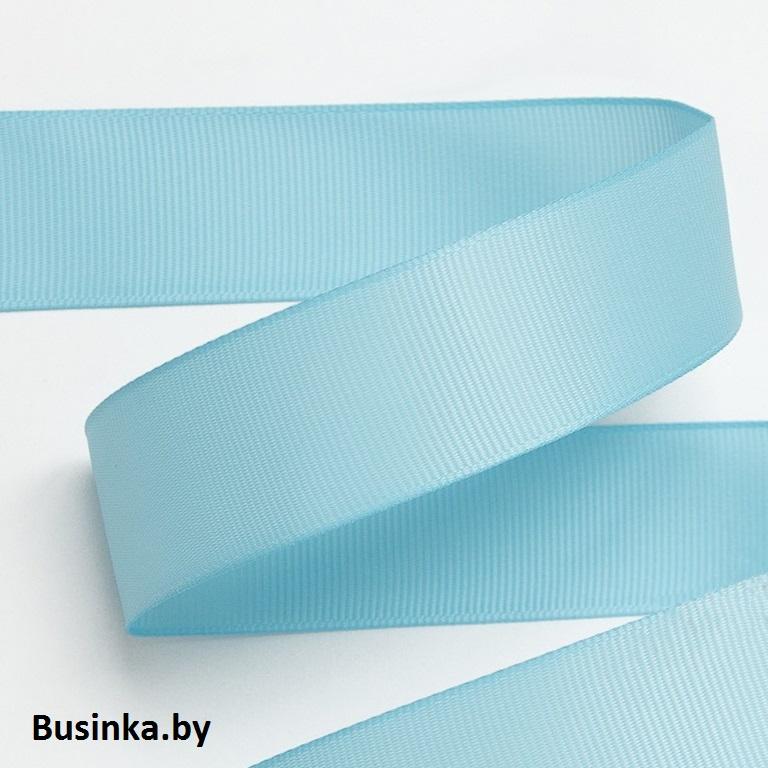 Лента репсовая 4 см, голубой 32 (1 метр)