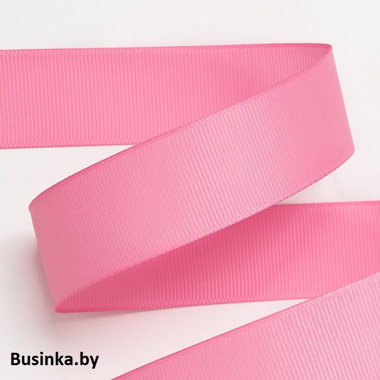 Лента репсовая 4 см, розовый 09 (1 метр)